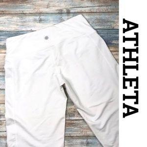 [Athleta] white wide leg crop pants #N13